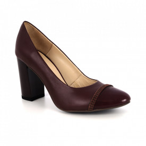Pantofi din piele naturală cod 527 Bordo