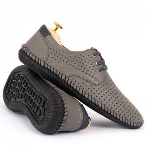 Pantofi din piele naturală Cod 623 Gri - Pantofi din piele naturală tip   Model perforat , tălpicmoale ce conferă comoditatea de care ai nevoie! Finisaje îngrijite cu un design deosebit - Deppo.ro