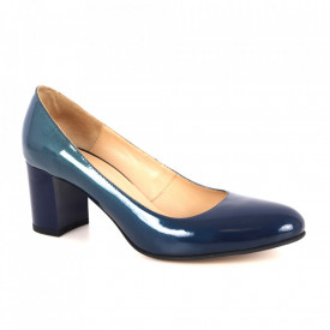 Pantofi din piele naturală cod 63217 Blue