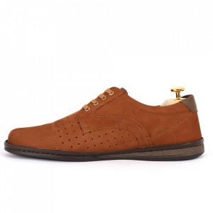 Pantofi din piele naturală Cod 640 Maro - Pantofi din piele naturală tip catifea  Model perforat , tălpicmoale ce conferă comoditatea de care ai nevoie! Finisaje îngrijite cu un design deosebit - Deppo.ro
