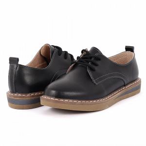 Pantofi din piele naturală cod 6552 Negri