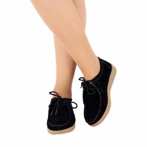 Pantofi din piele naturală cod 85171 Negri