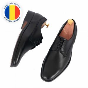 Pantofi din piele naturală cod 8547 Black