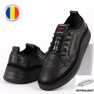Pantofi din piele naturală Cod 9202 Black