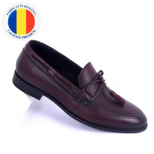 Pantofi din piele naturală cod 941 Bordo