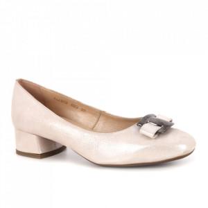 Pantofi din piele naturală cod V-3 Bej