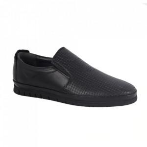 Pantofi din piele naturală pentru bărbați cod 1001-1 Siyah