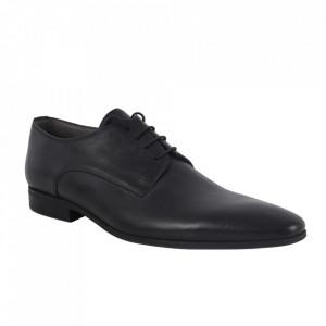 Pantofi din piele naturală pentru bărbați cod 1289 Negru