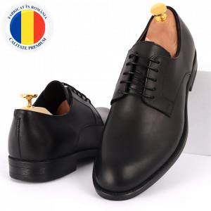 Pantofi din piele naturală pentru bărbați cod 2024 Negri