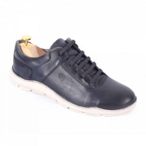 Pantofi din piele naturală pentru bărbați cod 324 Gri