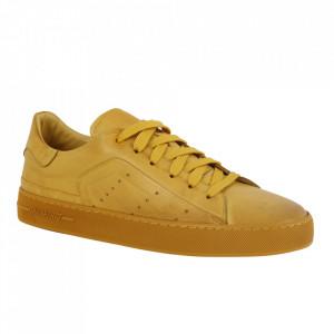 Pantofi din piele naturală pentru bărbați cod 550 Yellow