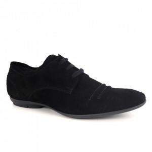 Pantofi din piele naturală pentru bărbați cod 7112 Negru