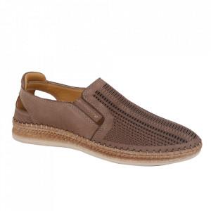 Pantofi din piele naturală pentru bărbați cod 85028 Kum