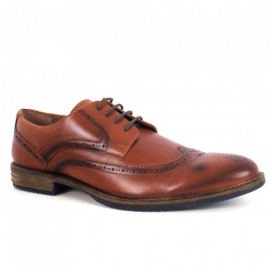 Pantofi din piele naturală pentru bărbați cod 872 Maro
