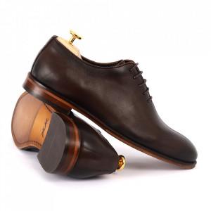 Pantofi din piele naturală pentru bărbați cod 915 MARO - Pantofi din piele naturală pentru bărbaţi, model simplu, finisaje îngrijite cu un design deosebit - Deppo.ro