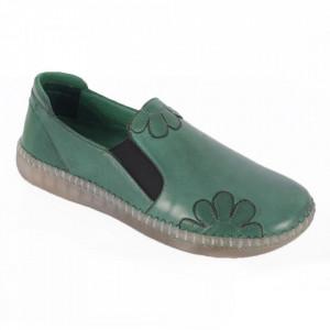 Pantofi din piele naturală pentru dame cod 2010 Yesil