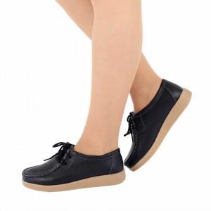 Pantofi din piele naturală pentru dame cod 8517 Negri
