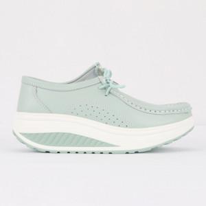 Pantofi din piele naturală pentru dame cod A388 L.Blue
