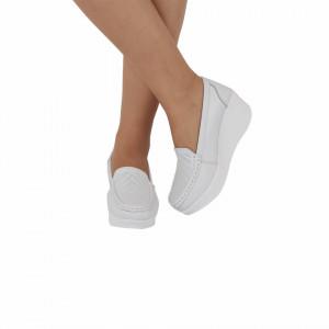 Pantofi din piele naturală Sara White