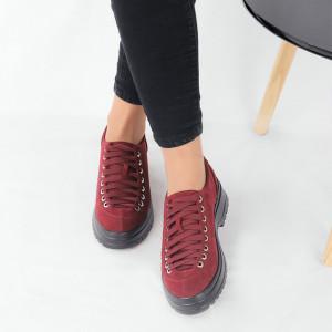 Pantofi pentru dame cod 1466D2 Maroon