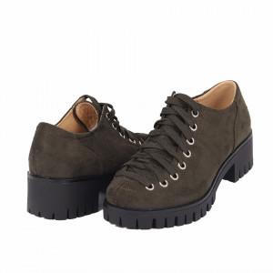 Pantofi pentru dame cod D50081 Verde Army