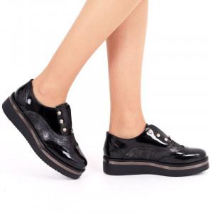 Pantofi pentru dame cod P107 Negri
