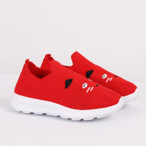 Pantofi sport cod CP76 Roși - Pantofi sport din material textil cu talpă din spumă și închidere cu scai - Deppo.ro