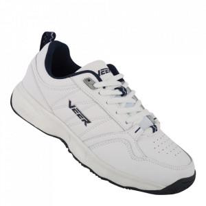 Pantofi sport din piele naturală pentru bărbați cod 9163-1 White/Blue