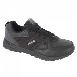 Pantofi sport din piele naturală pentru bărbați cod 9211A Negru