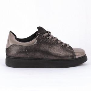 Pantofi Sport Giuliana Cod 448 - Pantofi sport din piele ecologică întoarsă și piele ecologică lăcuită  Model cu sclipici  Foarte comfortabili - Deppo.ro