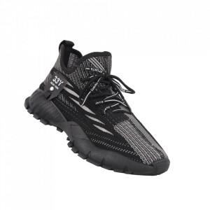 Pantofi sport pentru bărbați cod 207 Black/Grey