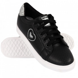 Pantofi Sport pentru dame cod 905 Black/Silver