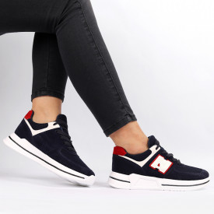 Pantofi Sport pentru dame Cod ABC-331-Navy - Pantofi sport pentru dame dinpanza ,talpa din spuma Foarte confortabili si usori - Deppo.ro