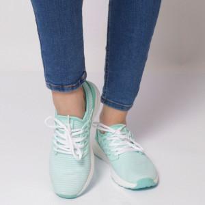Pantofi Sport pentru dame Cod B8143 Ocean - Pantofi sport pentru dame dinpanză,talpă din spumă  Foarte ușori și comozi  Închidere prin șiret. - Deppo.ro