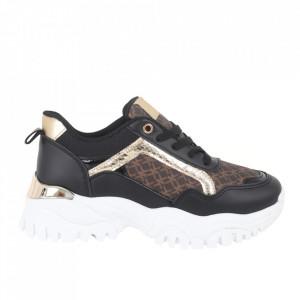 Pantofi sport pentru dame cod D038 Black/Brown