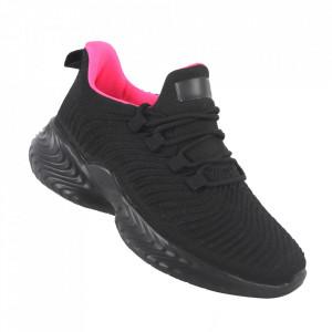 Pantofi sport pentru dame cod DS8305 Black/Fuxia