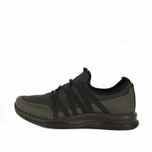 Pantofi Sport Samuel Khaki - Pantofi sport din piele ecologică cu talpă din silicon și închidere cu șiret - Deppo.ro