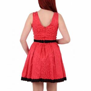 Rochie Estrella Indianred - Rochie roşie elegantă cu dantelă în partea taliei și în partea de jos, ușor de accesorizat,simte-te atrăgătoare purtând această rochie și strălucește la urmatoarea petrecere. - Deppo.ro