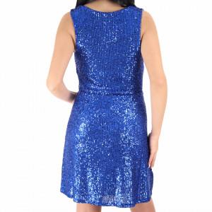Rochie Fely Blue - Rochie scurtă cu paiete albastră simte-te atrăgătoare si misterioasă purtând această rochie și atrage toate privirile la urmatoarea petrecere. - Deppo.ro