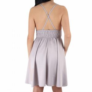 Rochie Lailah Grey - Rochie din material elastic, pentru o ținută lejeră și elegantă în același timp datorita croiului - Deppo.ro