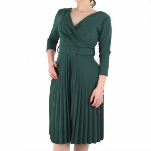 Rochie Plisată Leona Verde