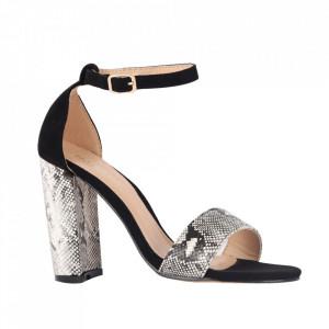 Sandale din piele ecologică cod OD341 Black