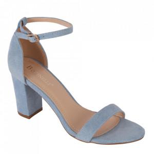 Sandale din piele ecologică cod OD351 Blue