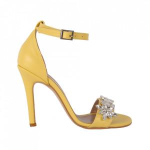 Sandale din piele ecologică cod RS02 Yellow
