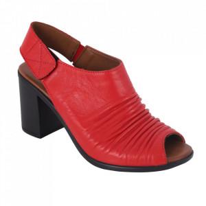Sandale din piele naturală cod 065 Red