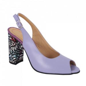 Sandale din piele naturală cod 1068 Lila