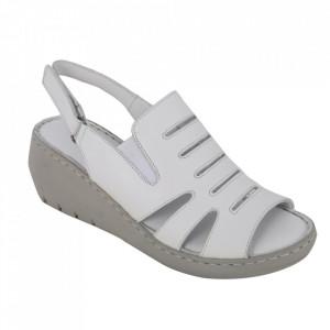 Sandale din piele naturală cod 634 White