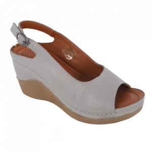 Sandale din piele naturală cod 700 Gri