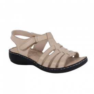 Sandale din piele naturală cod AH/801 Bej