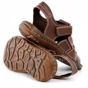 Sandale pentru bărbaţi cod 021 Brown - Sandale pentru bărbaţi Închidere cu scai Calapod comod - Deppo.ro